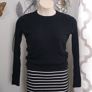 Merona Black Cable Knit Sweater